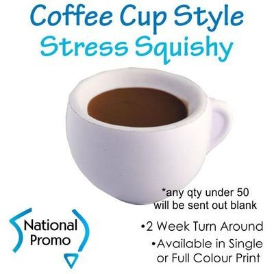 Full Colour Print Coffee Cup Stress Squishy