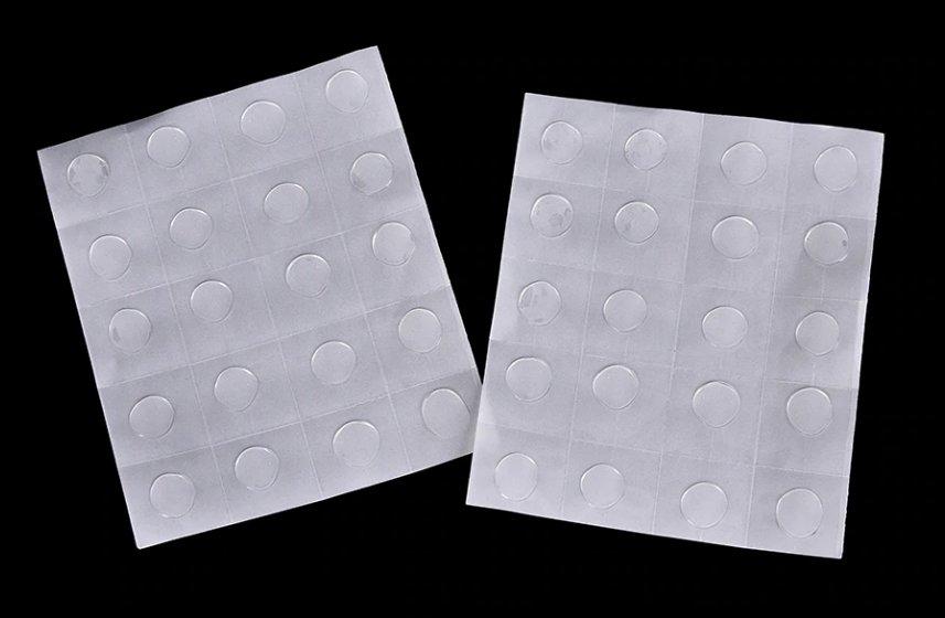 Двусторонний силиконовый тейп круглый лист 20 шт.