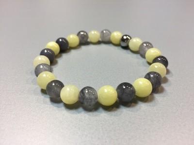 Armband mit Naturstein und Jade