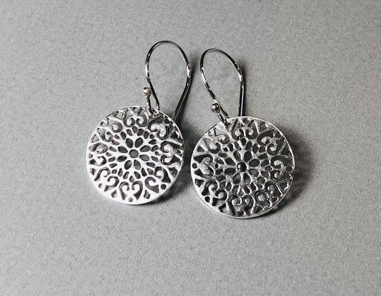 Ohrhänger Ornament Silber