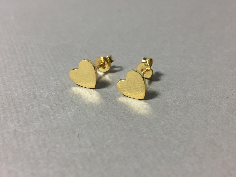 Ohrstecker Herz Silber vergoldet
