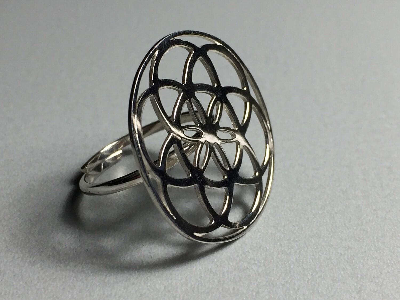 Silberring Mandala