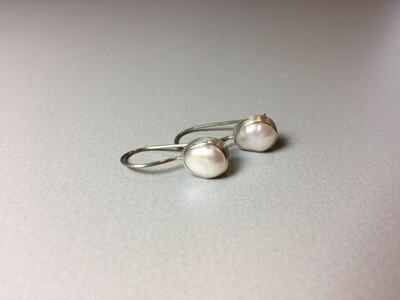 Ohrhänger Silber mit Süßwasserperle