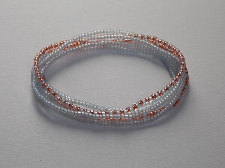 Stretch-Armbandkette hellblau matt rosegold