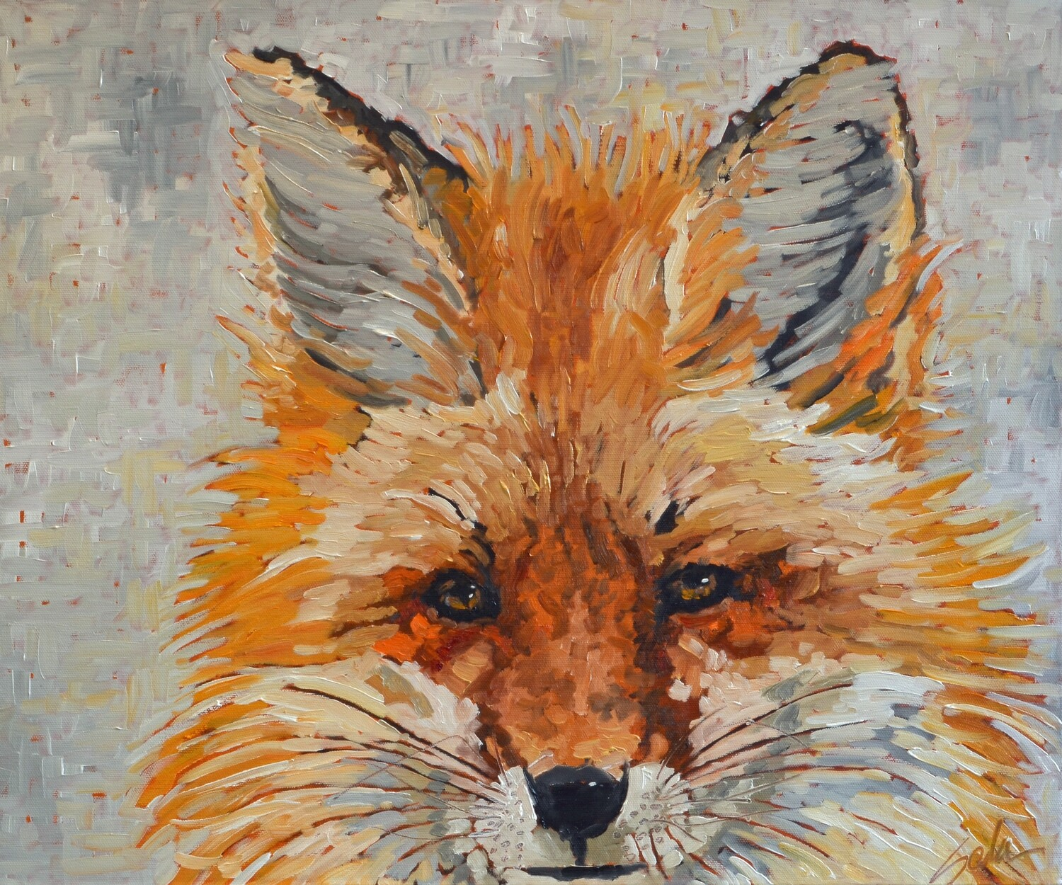 Red Fox, oil on canvas, 24x20