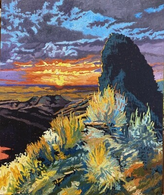 Sunset Over the Owyhees from Bogus Basin Road, 28x34