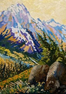 Rocky Mountains, 30x40