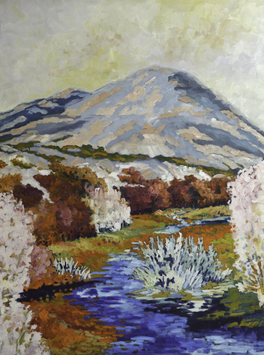 High Mountain Stream, 36x48, 2018