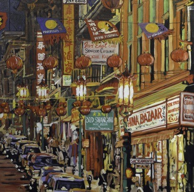 China Town 1, 36x36, SOLD