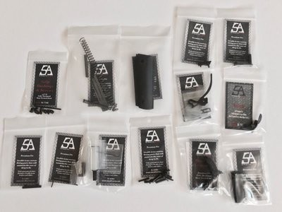 Stealth Arms - 1911 9mm Government Model Series 70 - Complete Lower Parts Kit - No Frame or Upper Slide