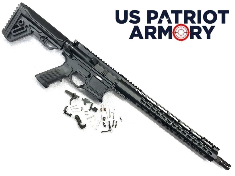 "AR-15 80% Rifle Kit - 5.56 NATO 16"" Barrel w/ BCG, Charging Handle & P80 Lower"