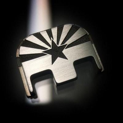 Arizona Flag - Titanium Back Plate