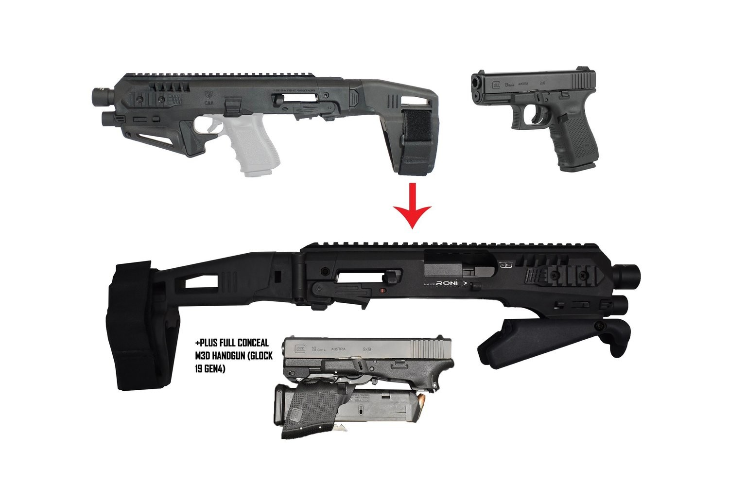 Convert Your Own Micro Roni + Your Own Glock 19 Into The Viper