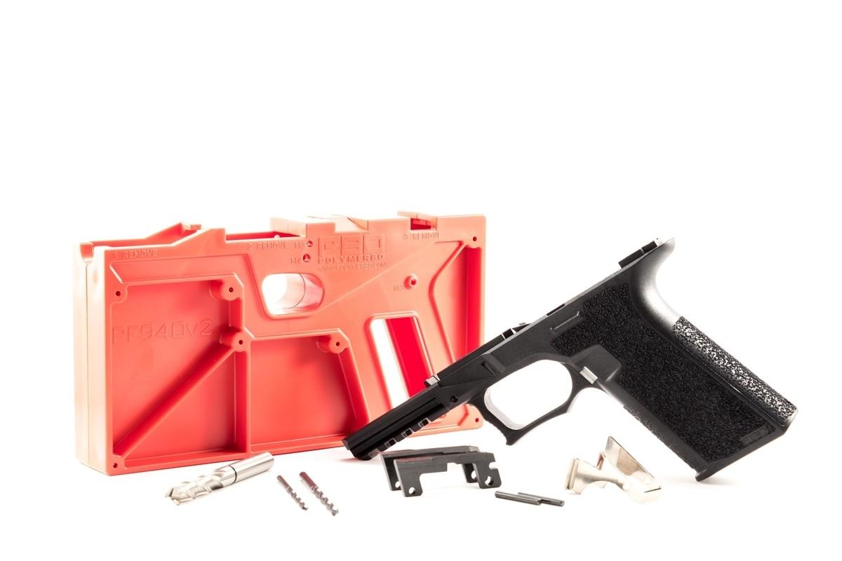 Textured 80% Glock Frame - Polymer80 PF940v2 - 17/22/33/34/35