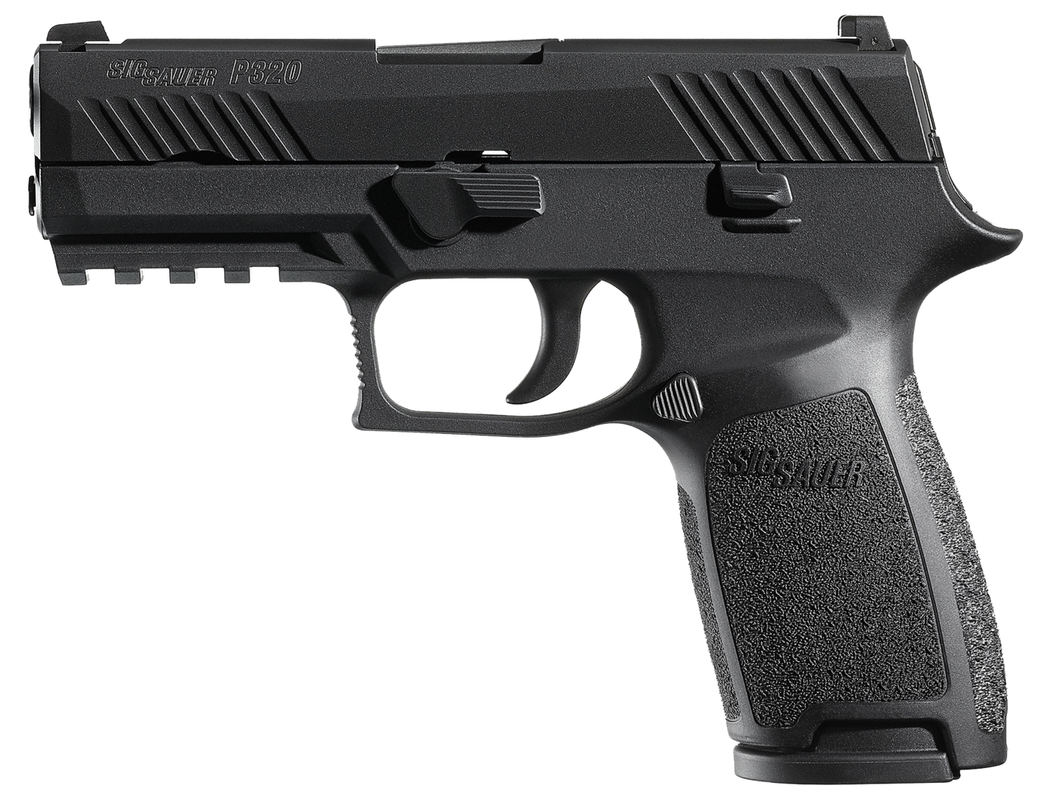 """80% Sig Sauer - P320 Carry Double 357 Sig 3.9"""" 14+1 - 2 Mags - Black Polymer Grip/Frame Grip - Nitron Stainless Steel"""