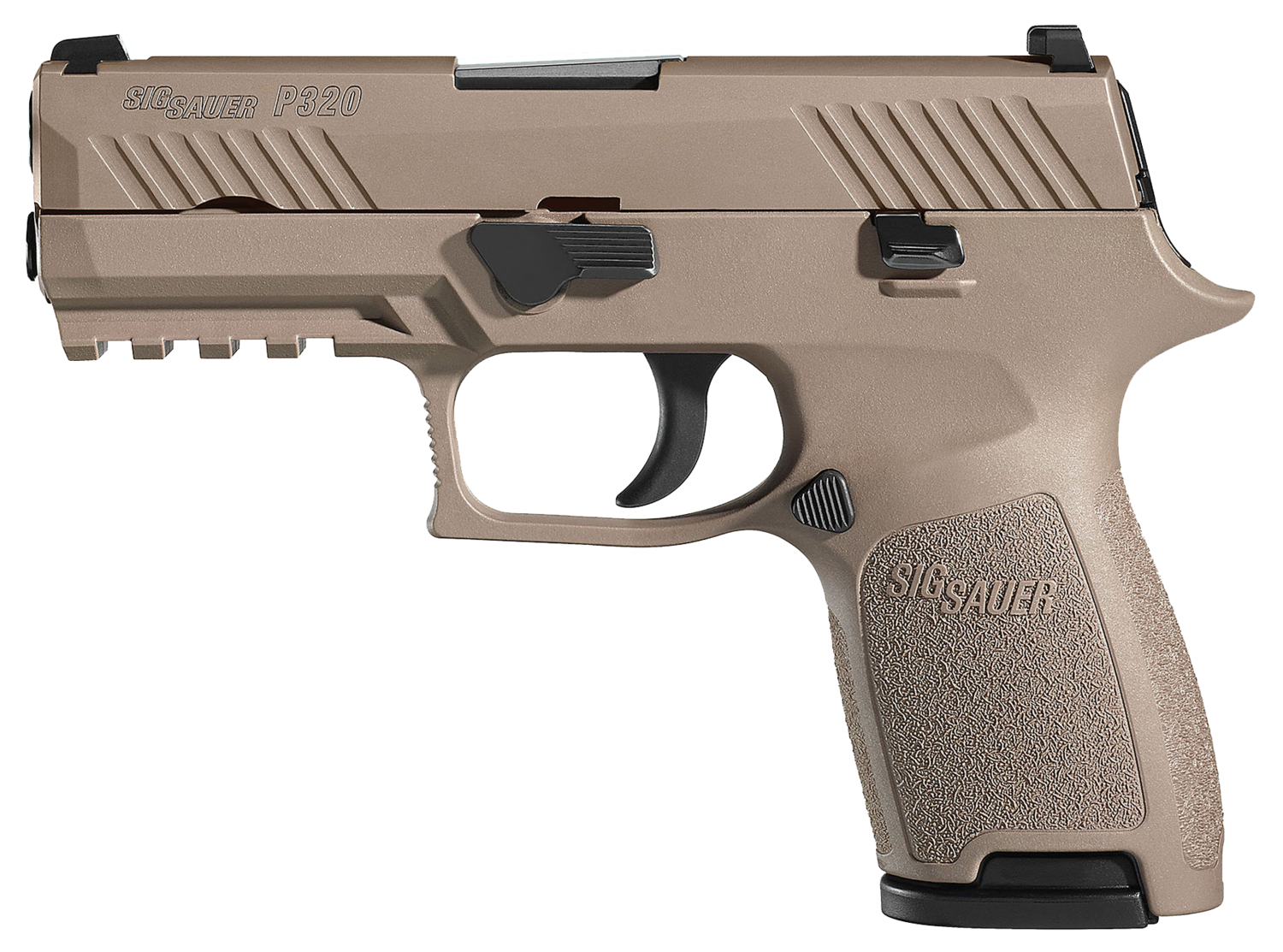 """80% Sig Sauer - P320 Compact Double - 357 Sig 3.9"""" 10+1 FDE - Polymer Grip PVD - Stainless Steel"""