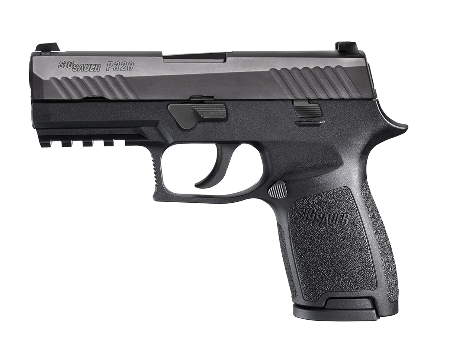 "80% Sig Sauer - P320 Compact Double 9mm Luger 3.9"" 10+1 - 2 Mags - Black Grip Black Nitron Stainless Steel"