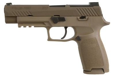 80% Sig Sauer - P320 M17 9mm Full-Size (FDE) Pistol w/ No Manual Safety