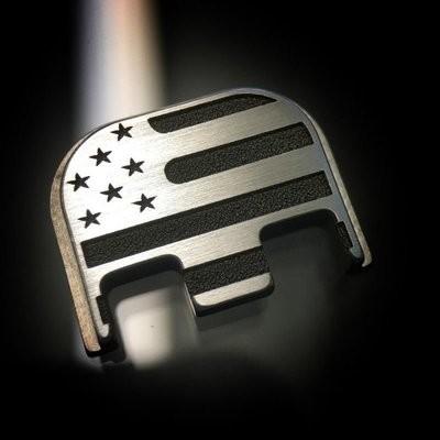 American Flag - Titanium Back Plate
