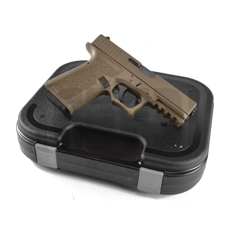Glock G19 - 80% Pistol Build Kit 9mm - POLYMER80 PF940C - FDE
