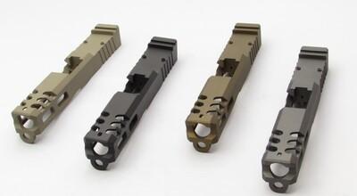 G19 Compact  9mm Slide - Rear Serrations - Windowed - Trijicon RMR Back Site Cut