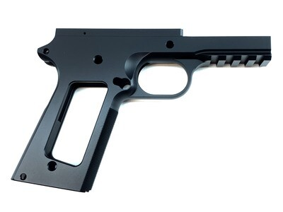 1911 80% .45 Government Tactical Full Size 70 Series Frame w/ Grip Checkering - Aluminum - Black