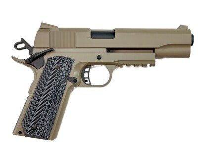 1911 Tactical Full Size 80% Builders Kit FDE: Choice of .45 ACP - 9mm - 10mm - 40 Cal