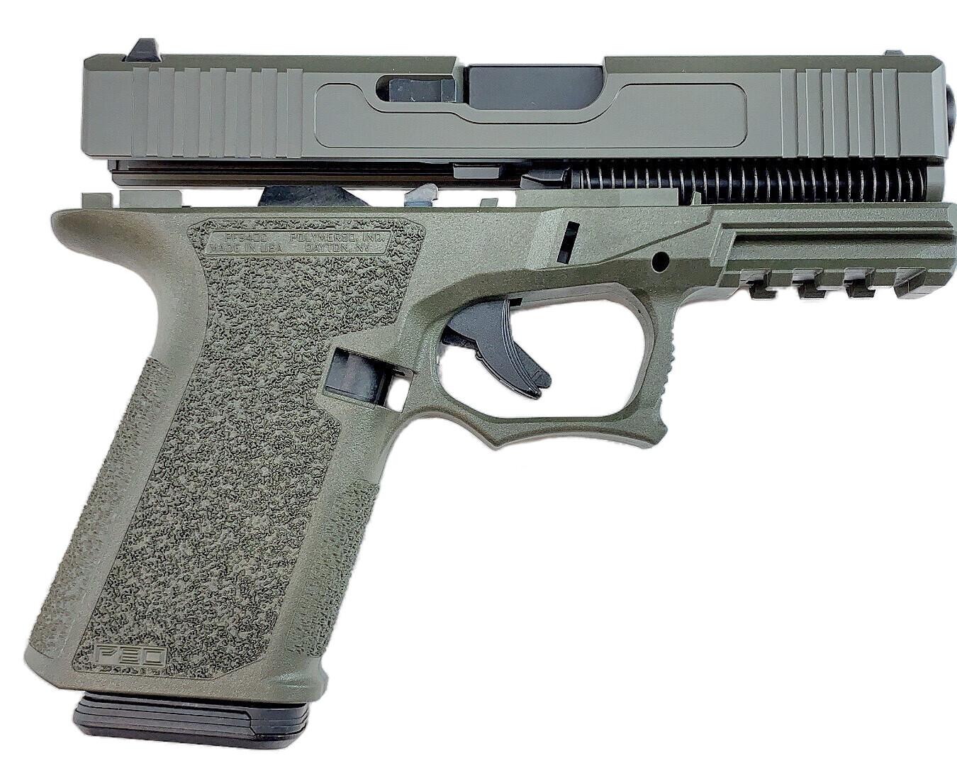 Patriot G19 80% Pistol Build Kit 9mm - Polymer80 PF940C - OD Green