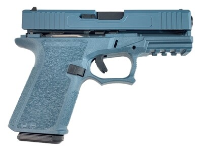 Patriot G19 80% Pistol Build Kit Black Nitride 9mm Barrel - Polymer80 PF940C - Jesse James Blue