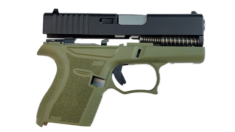80% Glock 43 Subcompact Full Pistol Build Kit OD Green / Black