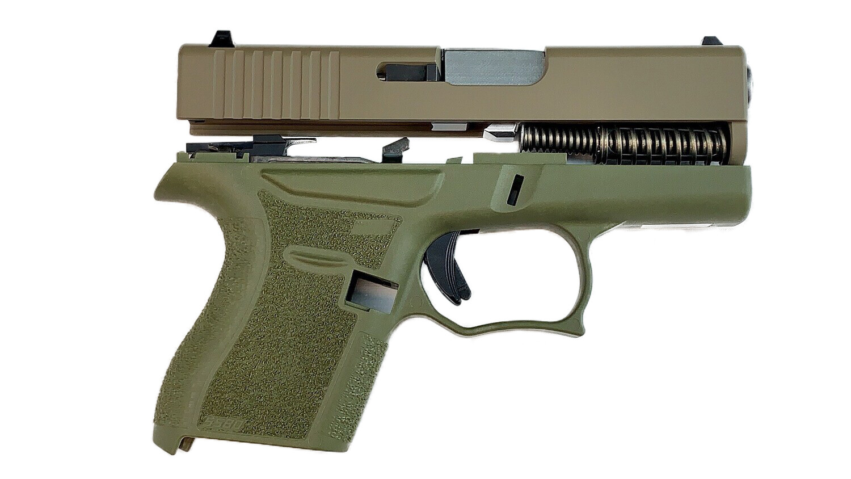 80% Glock 43 Subcompact Full Pistol Build Kit FDE / OD Green