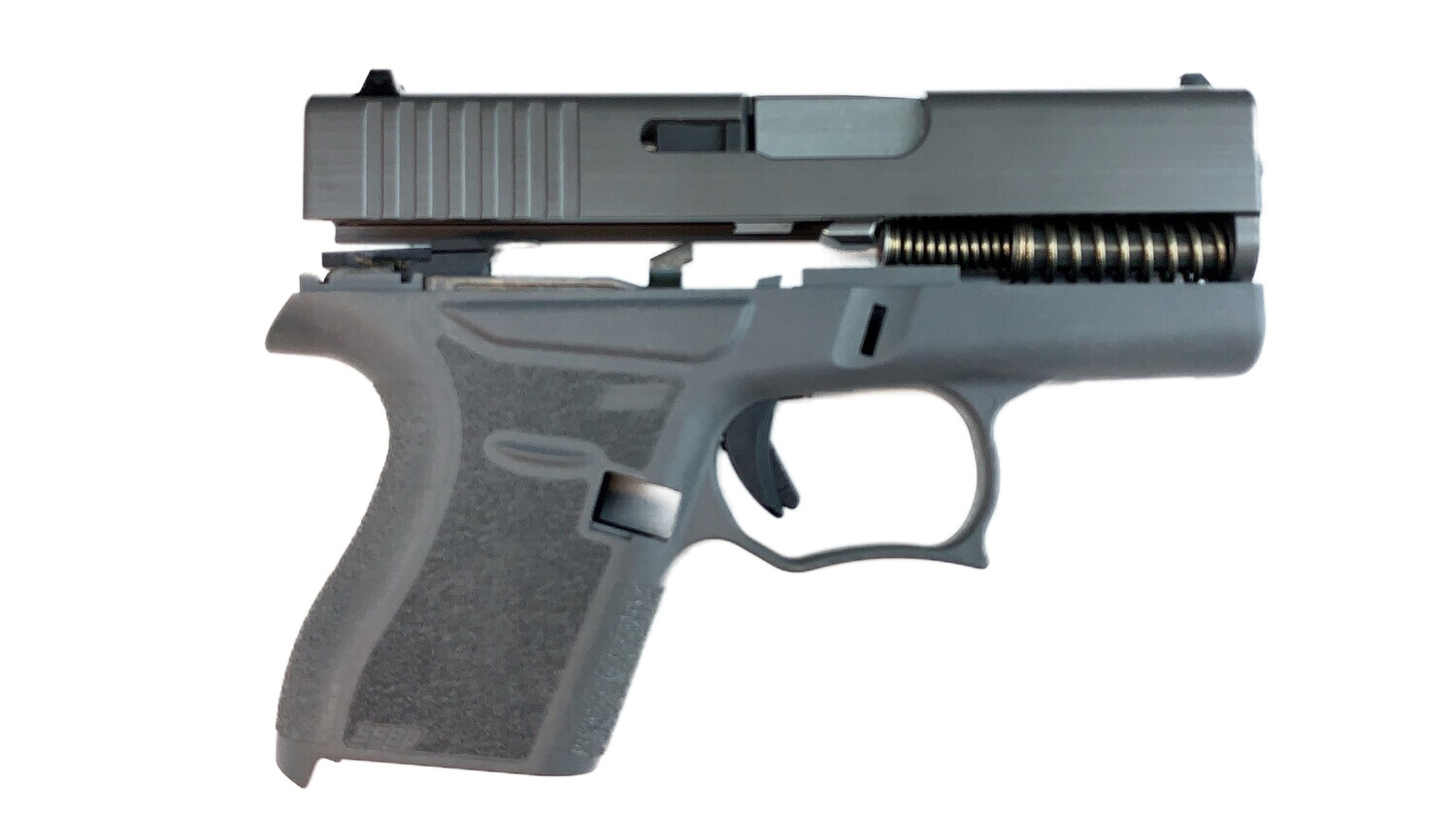 80% Glock 43 Subcompact Full Pistol Build Kit Grey / Grey - FRAME NOT INCLUDED