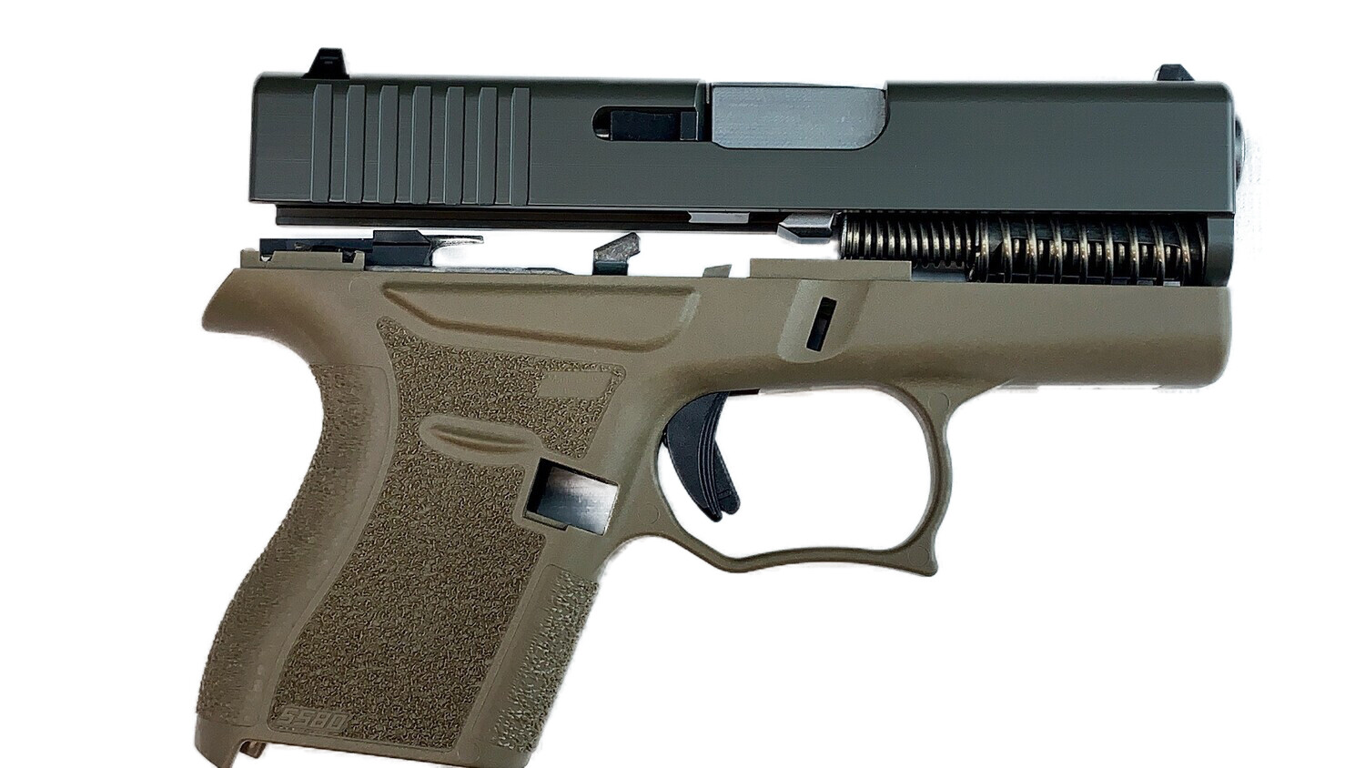 80% Glock 43 Subcompact Full Pistol Build Kit FDE / BLK - FRAME NOT INCLUDED