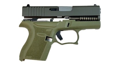 80% Glock 43 Subcompact Full Pistol Build Kit OD Green
