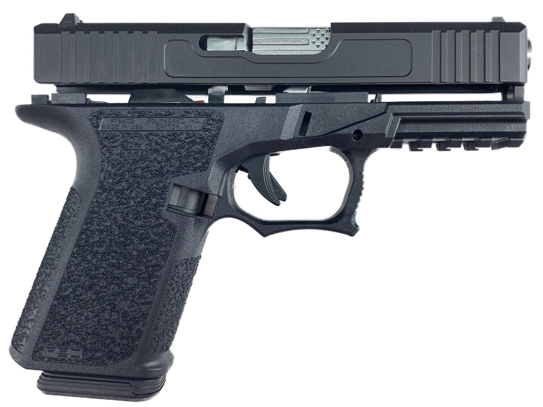 "Patriot G19 80% Stainless ""U.S. Battle Flag"" Pistol Build Kit 9mm - Black - Polymer80 PF940C"