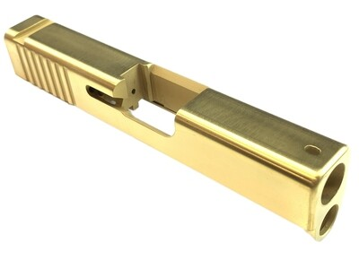Glock 43 Slide Rear Serrations - Tin Gold