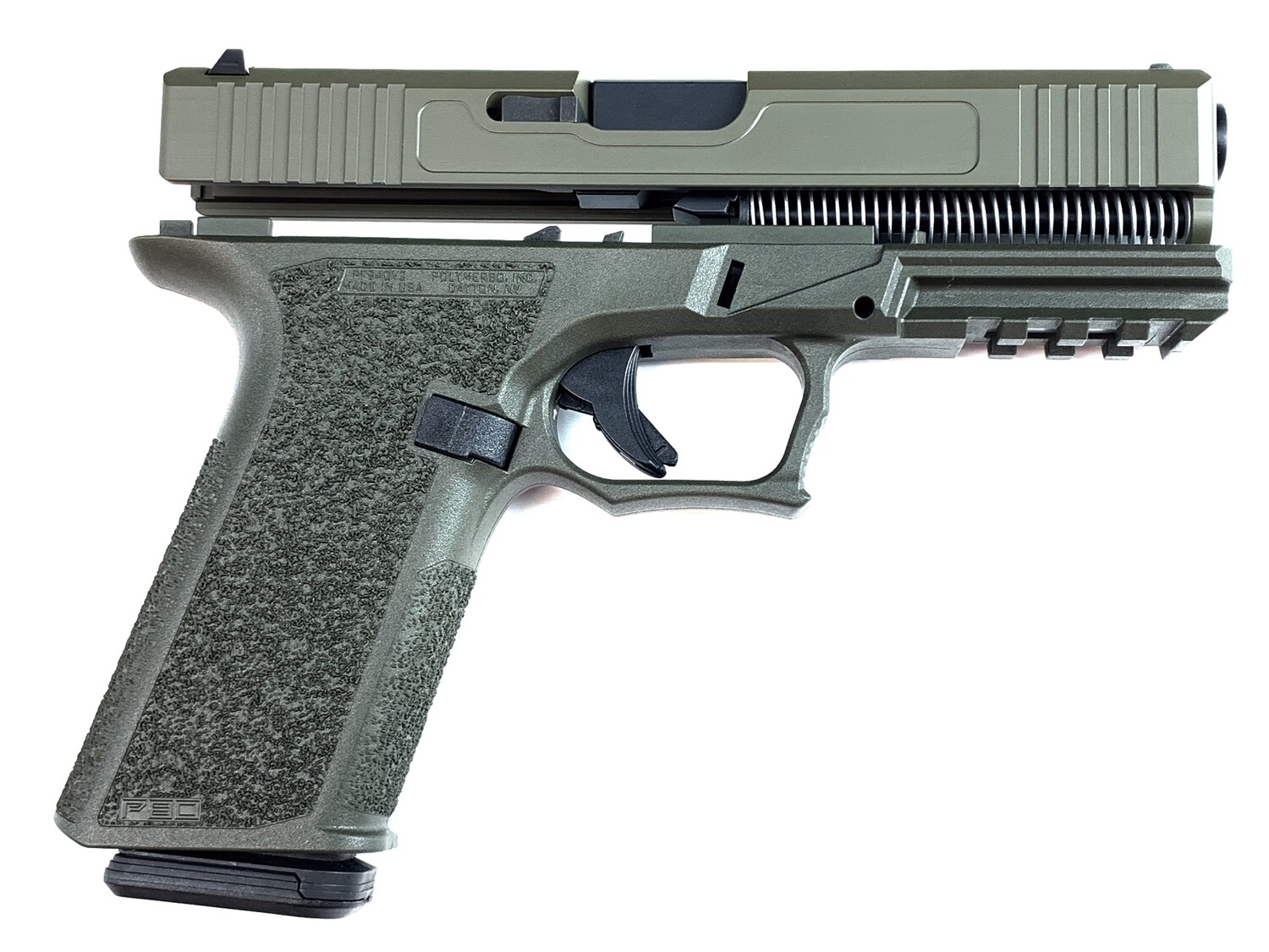 Patriot G17 80% Pistol Build Kit 9mm - Polymer80 PF940V2 - OD Green