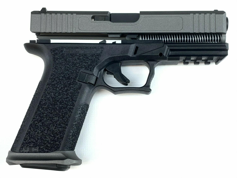 Patriot G17 80% Pistol Build Kit 9mm - Polymer80 PF940V2 - Tungsten Silver / Black - Steel City Magwell