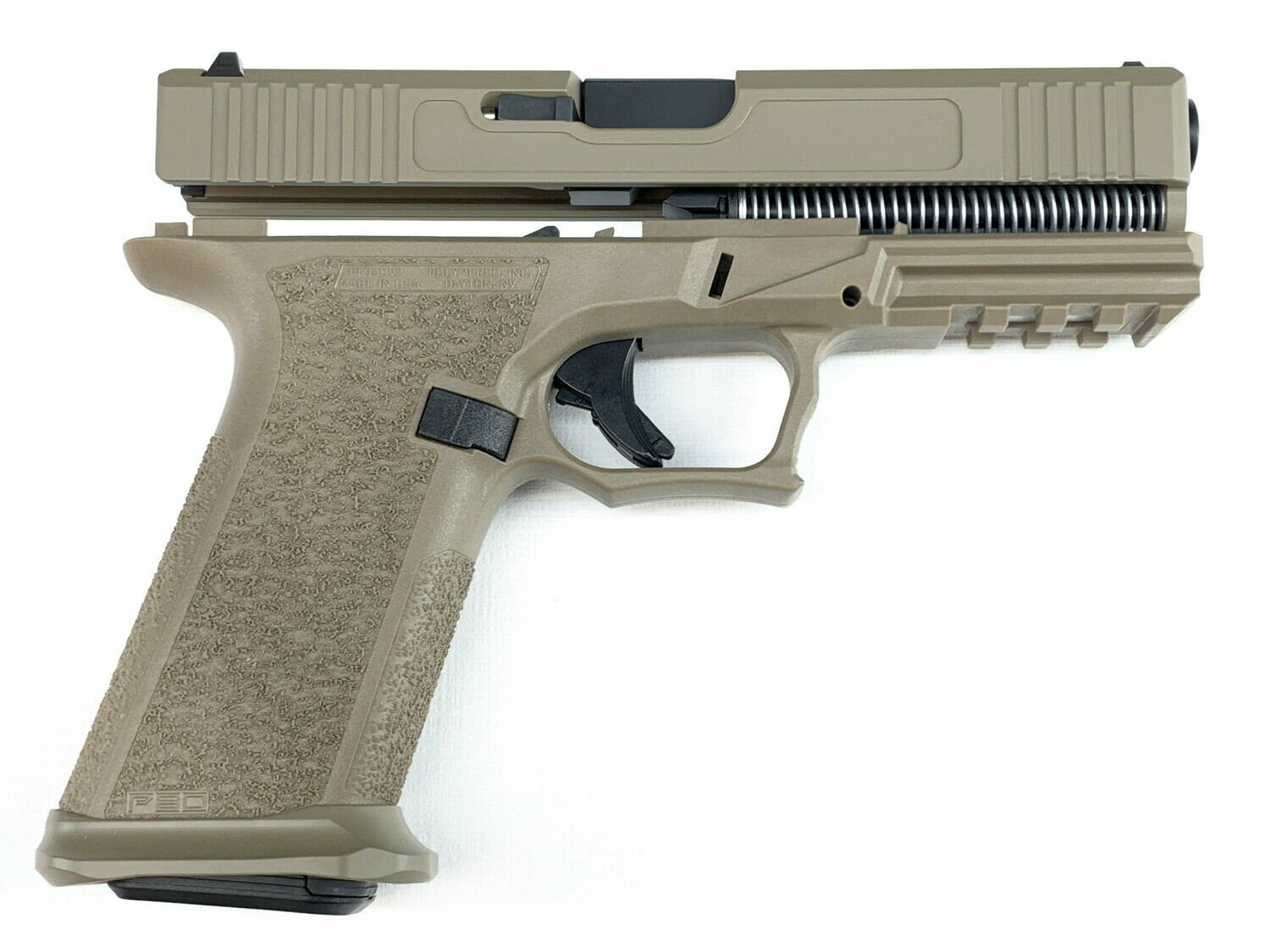 Patriot G17 80% Pistol Build Kit 9mm - Polymer80 PF940V2 - FDE - Steel City Magwell