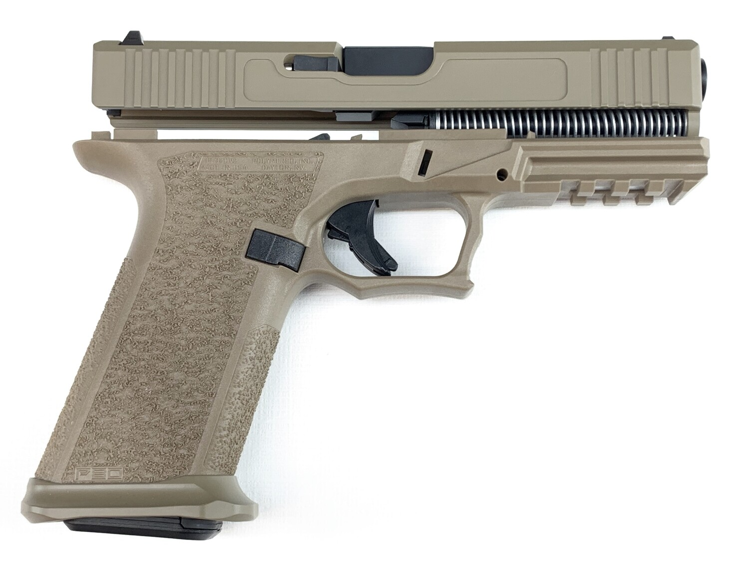 Patriot G19 80% Pistol Build Kit 9mm - Polymer80 PF940C - FDE - Steel City Arsenal Magwell FDE