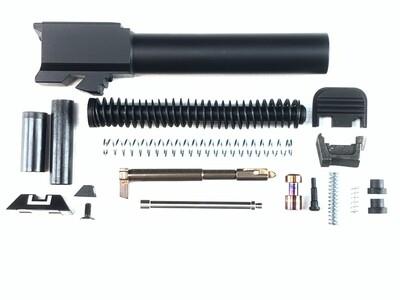Slide Upper Parts Build Kit - Fits Glock - G19, G17, G26 - Includes Sights, Guide Rod & Barrel