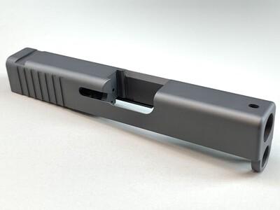 Glock 43 Slide With Rear Serrations - Cerakote Sniper Grey