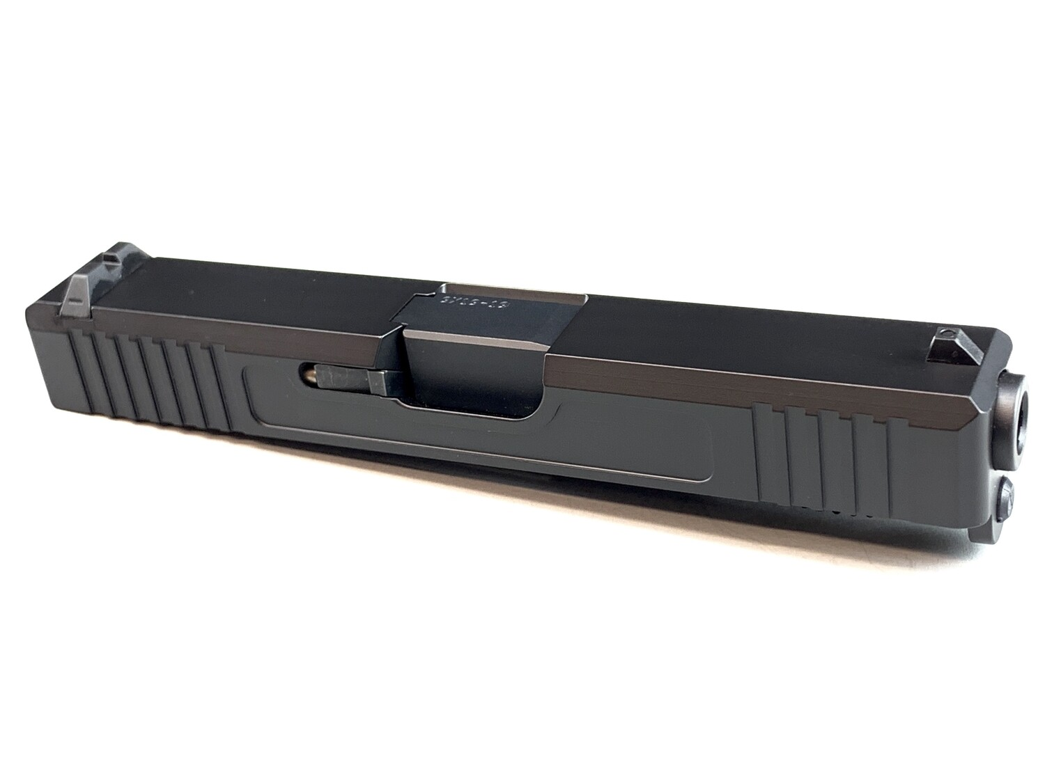 Glock 19 Slide w/ Front & Rear Serrations - Black