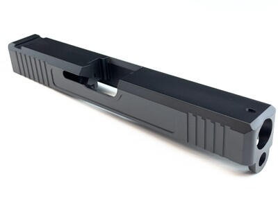 Glock 17 Slide w/ Front & Rear Serrations - Black