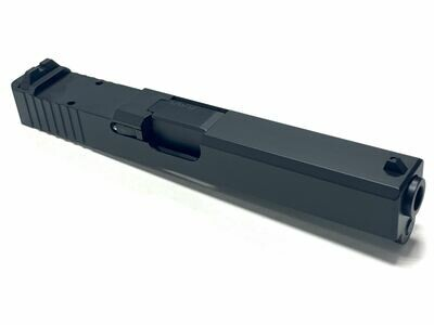 Glock 17 Black Nitride Built Slide w/ Rear Serrations - RMR Trijicon Cut