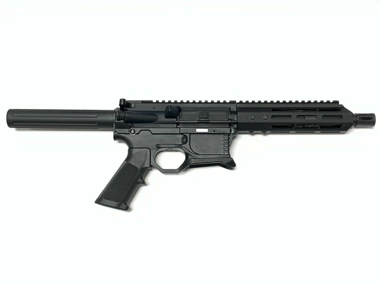 "80% AR-15 Pistol Kit - 5.56 NATO 7.5"" Barrel, BCG, Charging Handle & Lower Parts Kit - Polymer80 80% Lower"