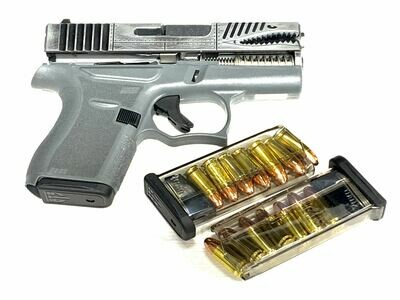 Glock 43 P40 Warhawk Battleworn Gray - 80% SS80 Frame Build Kit - Comes With 3 ETS 7rd Magazines
