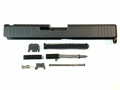 Glock 17 Slide w/ Front & Rear Serrations Black - With Slide Upper Build Kit