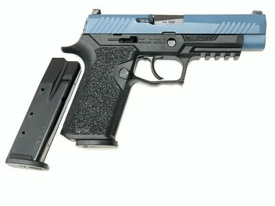 80% Sig Sauer - P320 Full Size - 40 S&W - Comes With 2 Mags - Polymer80 PF320PTEX Black Frame - Jesse James Blue Slide