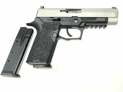 80% Sig Sauer - P320 Full Size - 40 S&W - Comes With 2 Mags - Polymer80 PF320PTEX Black Frame - Titanium Slide